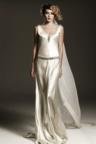 Art Deco Wedding Gown Violet