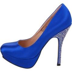 Blue Deco Heels