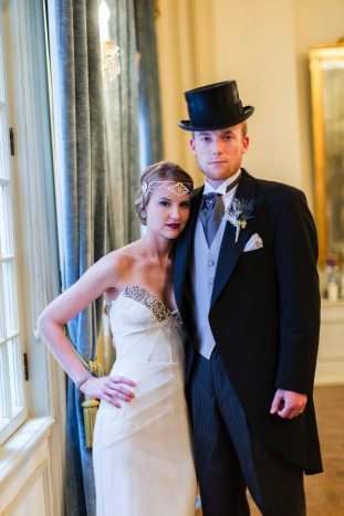 Art Deco Bride + Groom