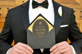 Art Deco Gold + Black Invite