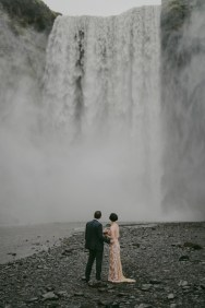 Iceland Waterfall | 1920s Style Wedding