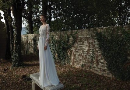 Lace Sleeve Wedding Gown || Berta