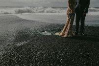 Vintage Style Wedding   Iceland Black Sand Beach