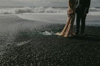 Vintage Style Wedding | Iceland Black Sand Beach