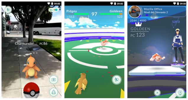 Pokémon GO pantallazo