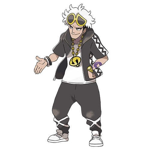 Guzmán Team Skull - Pokemon Sol y Luna