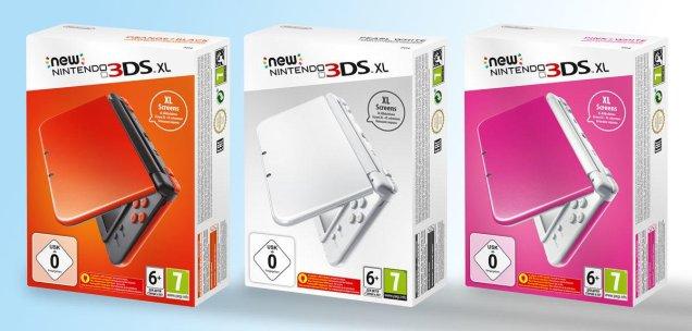 New Nintendo 3DS XL Rojo Blanco Rosa