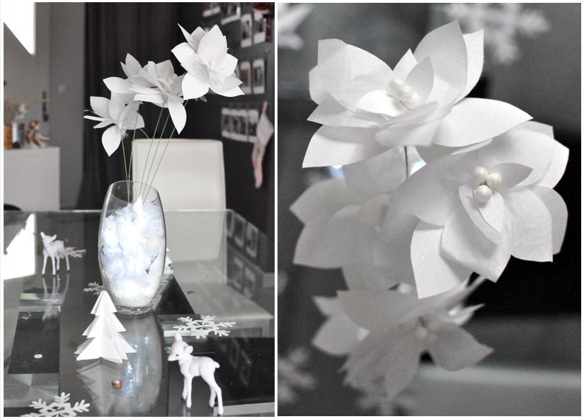 Cente de table, bouquet de noël en papier