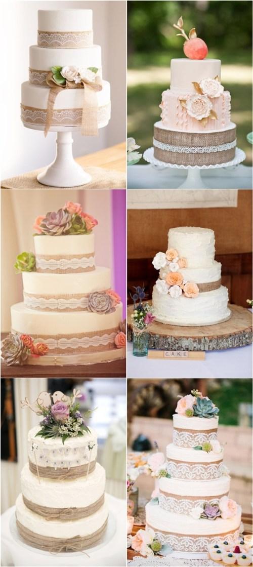 Medium Of Rustic Wedding Cakes