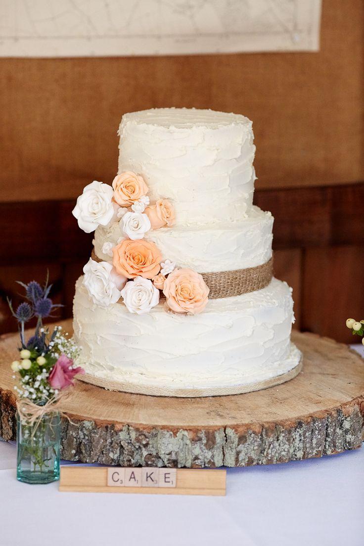 rustic country burlap wedding cakes burlap wedding ideas rustic burlap wedding cake and wood centerpiece
