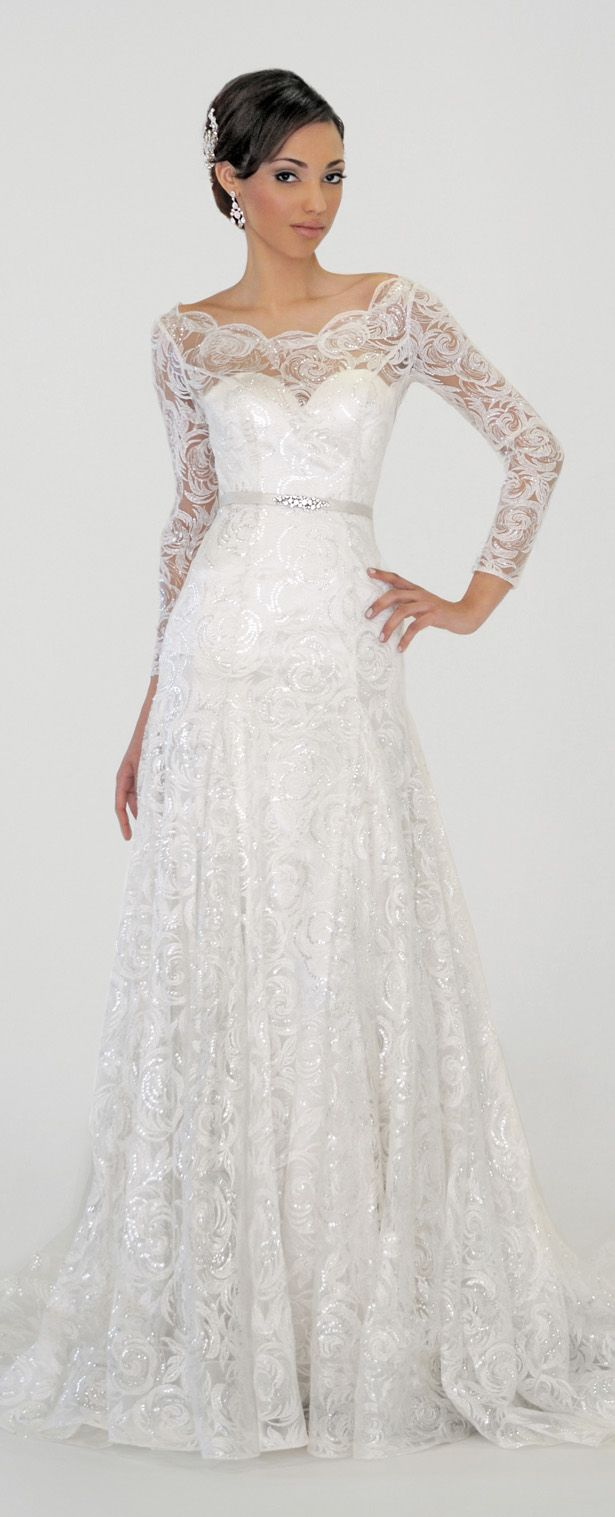 3 sleeved wedding dress Eugenia Couture Spring Wedding Dress with Long Sleeves