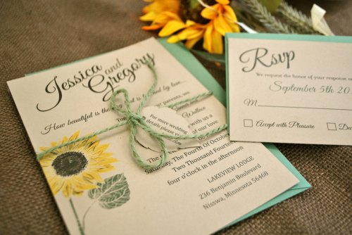 Medium Of Sunflower Wedding Invitations