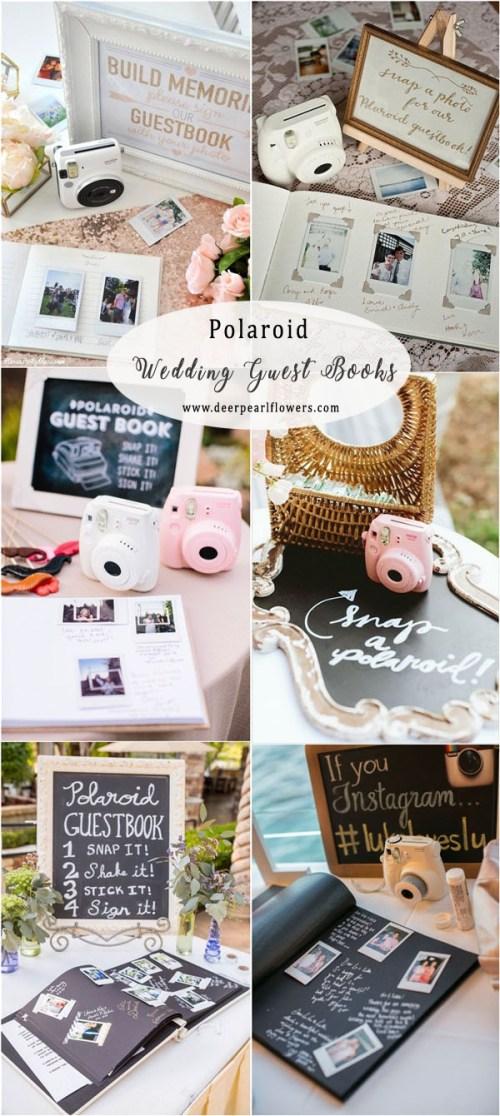 Encouraging Vintage Polaroid Wedding Guest Book Ideas Wedding Guest Book Ideas Deer Pearl Flowers Polaroid Guest Book Baby Shower Polaroid Guest Book Kit