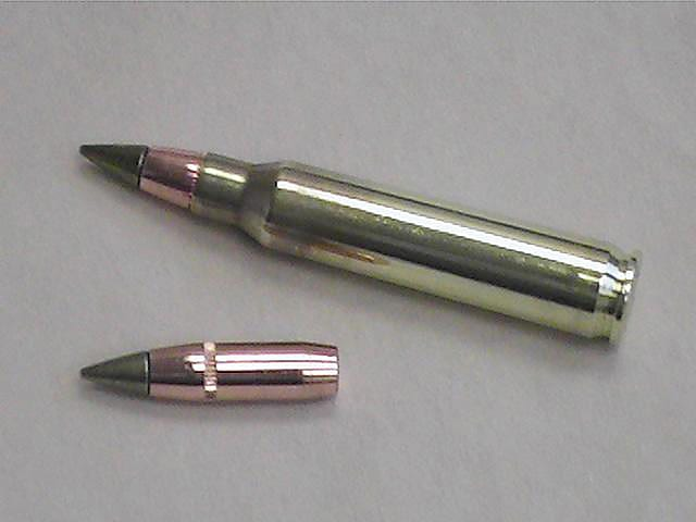 The M855A1 uses a reverse-jacketed copper projectile with a hardened steel tip and contains no lead.