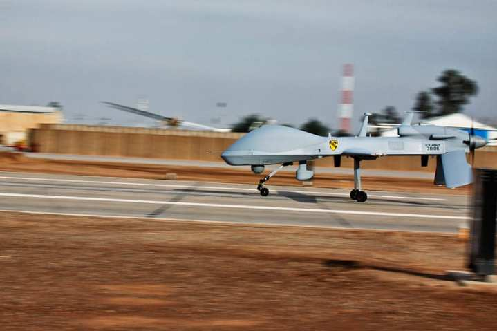The Army has found success with the Gray Eagle UAV platform, and has deployed two quick reaction capability (QRC) packages of four weaponized versions of the UAV; one QRC to Iraq and now one to Afghanistan. The Gray Eagle UAS was previously known as the Sky Warrior. U.S. Army photo by Sgt. Travis Zielinski.