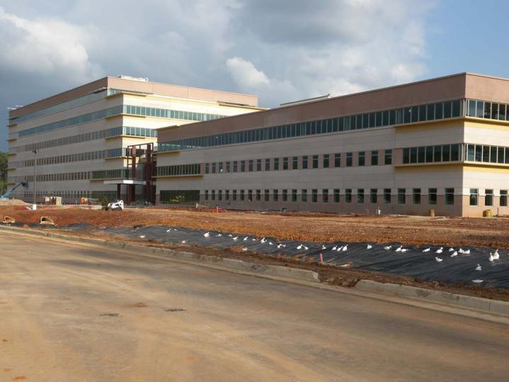 AMC Headquarters building during construction in Huntsville, Ala. Photo courtesy of AMC.