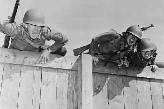Obstacle course during World War II