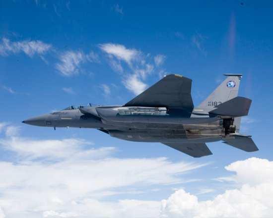 F-15SE in flight weapons bay open