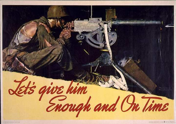 War production poster World War II
