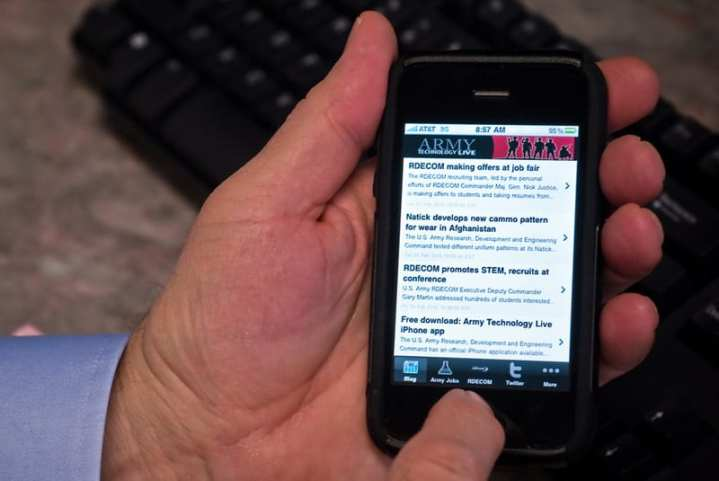 An RDECOM iPhone app is only one indicator of the spread of social media.
