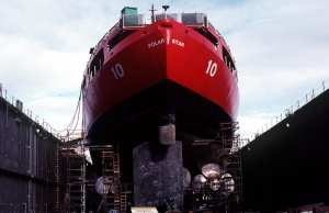 USCGC Polar Star in drydock