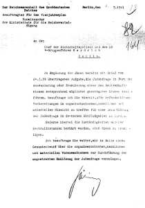 "The letter from Göring to Heydrich concerning the ""final solution."""