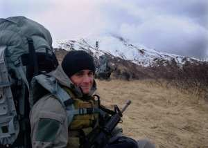 Michael Monsoor in the Mountains of Afghanistan