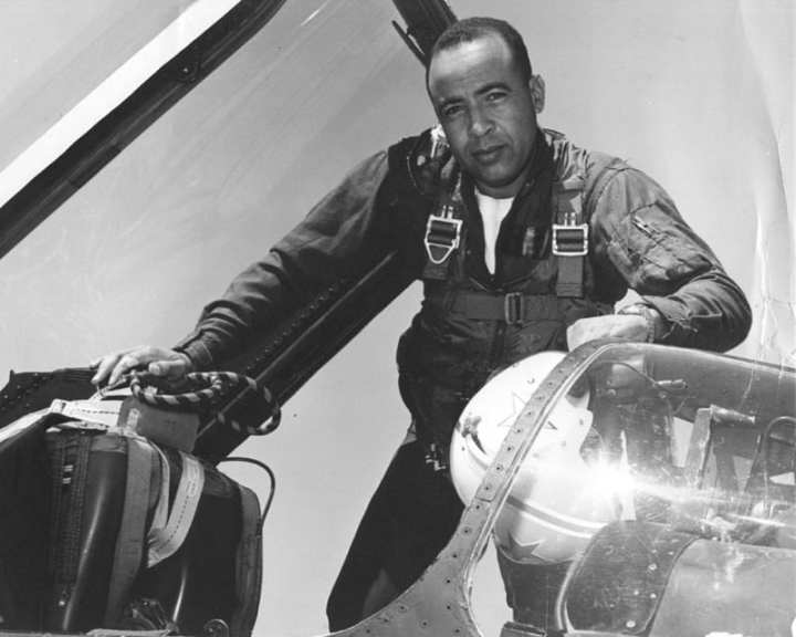 Lt. Cmdr. Benjamin Cloud was one of the first African-Americans to achieve a command position in naval aviation. Cloud's detachment of Light Photographic Squadron 63 flew the first Navy mission of the Vietnam War over Laos. U.S. Navy photo courtesy of U.S. Naval History and Heritage Command