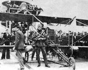 Eugene Ely  Curtiss pusher biplane