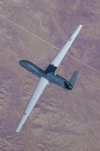 The latest Global Hawk, the Block 40, in flight
