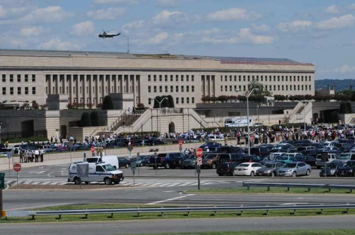 Evacuating the Pentagon after Aug. 23 Earthquake