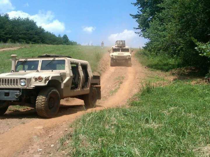 Granite-Textron HMMWV Recap vehicles on the test track