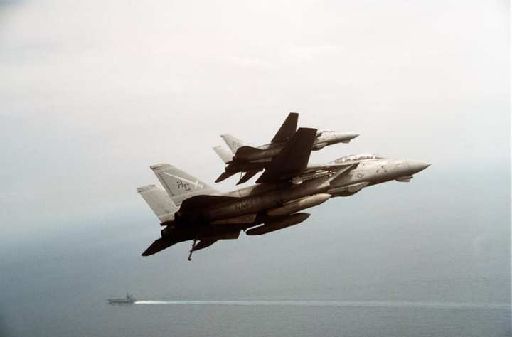 Swordsmen F-14s During Desert Storm