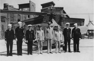 First Coast Guard helicopter detachment