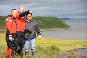 Coast Guard members Kotzebue navigation marker