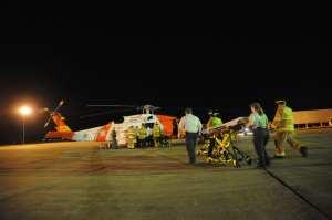 HH-60 Jayhawk helo and crew