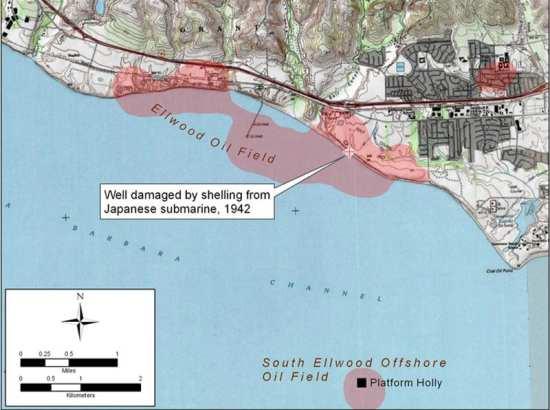 Ellwood Oil Field Shelling