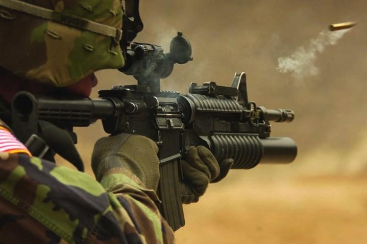 M4A1 Rifle Firing