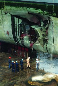 USS Tripoli Mine Damage Operation Desert Storm