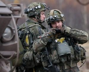 German paratroopers training