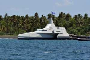 Klewang Fast Missile Trimaran Launching
