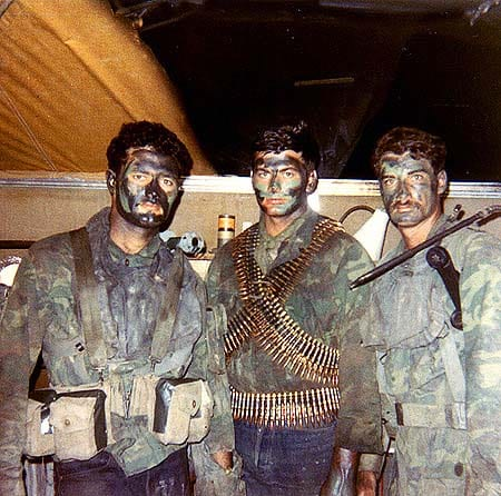 Michael Thornton and two SEAL comrades in Vietnam