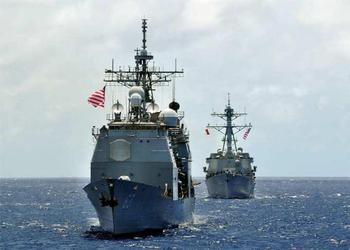 Cruiser and Destroyer