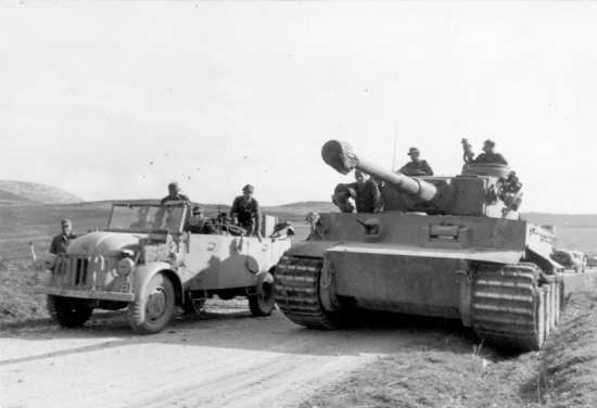 German Tiger Tank In Tunisia