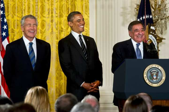 Obama announces Chuck Hagel
