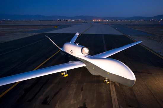 The MQ-4C Triton's, formerly known as BAMS UAS, first test aircraft prepares for upcoming test phase in June 2012 at Northrop Grumman's facility in Palmdale, Calif. Northrop Grumman photo
