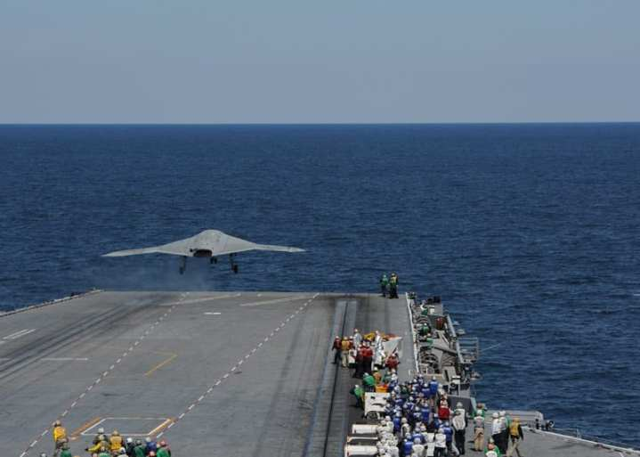First X-47B carrier launch 1