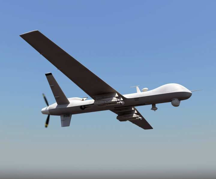 MQ-9 Reaper With Dual-Mode Brimstone