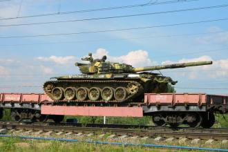 Russian tank flatcar