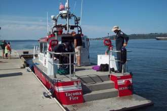 maritime security west fireboat